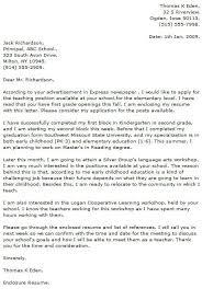 top teacher cover letter exles