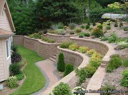 Small Picture Retaining Walls Designs Backyard Wall Ideas And For Yard 2017 Ker