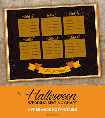 Seat Your Guests In Scary Style Halloween Wedding Seating