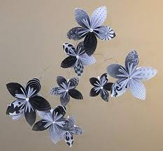 Paper Flower Mobiles Amazon Com Black And White Origami Paper Flower Baby Mobile