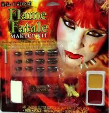flame devil makeup kit by fun world