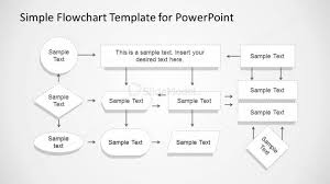 Simple Flowchart With Dotted Stroke For Powerpoint Slidemodel