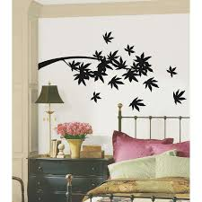 Exciting Bedroom Wall Decor Cool Design With Simple Black Tree Simple Wall  Designs For Living Room