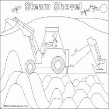 Kleurplaat Steam Shovel Groot Kleurplaatarchiefnl