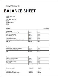 Microsoft Excel Balance Sheet Templates Opening Day Balance Sheet Template