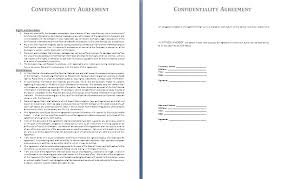 confidentiality agreement template top 4 formats of confidentiality agreement templates word