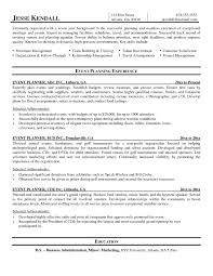 Event Coordinator Sample Resume Sample Resume For Jobs Resume