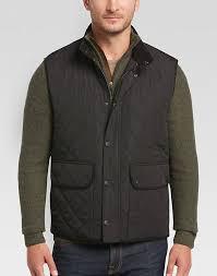 Pronto Uomo Black Modern Fit Diamond Quilted Vest - Men's Vests ... & Pronto Uomo Black Modern Fit Diamond Quilted Vest - Mens Vests, Outerwear -  Men's Wearhouse Adamdwight.com
