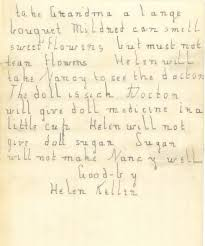 the power of words anne as teacher helen keller handwritten letter from helen keller circa 1887