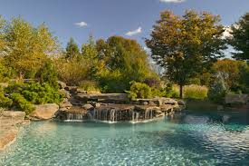 Swimming Pool:Simply Natural Swimming Pool With Stone Deck Idea Beautiful  Natural Home Swimming Pool