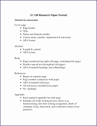 Apa Research Paper Example Fresh Summary Paper Format