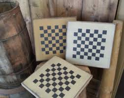 Game With Rocks And Wooden Board Checker board Etsy 45