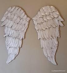 angel wings textured wood wall art carved wood look angel wing inside angel