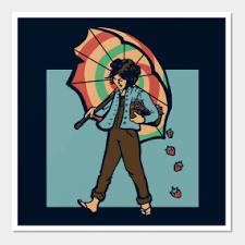 strawberry girl wall art on girl with umbrella wall art with umbrella wall art teepublic