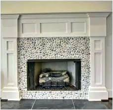 glass tile fireplace surround ideas