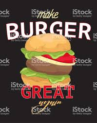 Faire Grand Burger à Nouveau Citation Drôle Slogan De Typographie