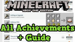 minecraft xbox one achievement guide all achievements