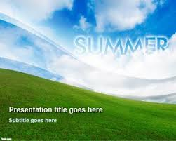 Summer Powerpoint Templates Summer Powerpoint Template With Nice Sky Background Design