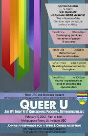 Ubc Graphic Design Program Queer U 2012 Program Queer U At Ubc