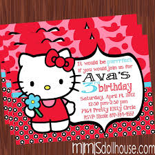 hello kitty invitation red mimi s dollhouse red display invite
