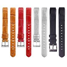14mm watch band colorful genuine leather strap replacement for fitbit alta black cod