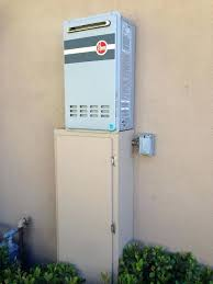 electric tankless water heater outdoor shower exterior hot enclosure