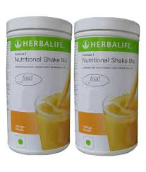 herbalife f1 nutritional shake mix mango flavour 500 gm pack of 2