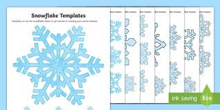 Snowflake Pattern Template Snowflakes Winter Template Snow Drawing