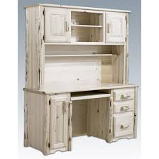 office desk with hutch storage. Home Decor Ideas Using Awesome Desk With Hutch: Whitewashed Computer Hutch For Office Storage W