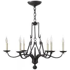 allegra small chandelier in aged iron