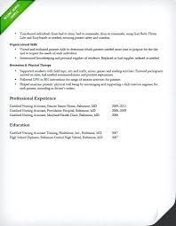 Resume Sample For Nursing Resume Format For Nurses Certified Nursing Assistant Experienced