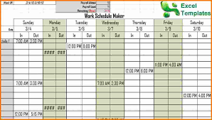 work schedule creator 3 daily schedule maker expense report