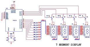 how to interface seg lpc arm advanced development board circuit diagram to interface 7 segment lpc2148