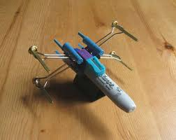 crazy office supplies.  Crazy X Wing Fighter From Office Supplies For Crazy S