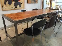 Kitchen Work Table On Wheels Db6 Custom Made Metal And Old Wood Work Table On Wheels Design