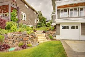 natural stones and bounders make retaining walls look like they belong in the landscape with boulder retaining wall cost