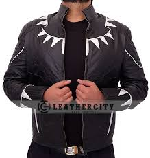 black panther leather jacket open front
