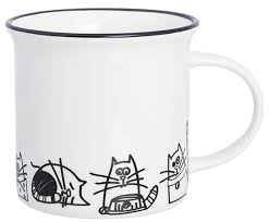 """<b>Кружка</b> """"<b>Без кота жизнь</b> не та. Жизнь кошек"""", 10,3x7,1x7,5 см, 240 ..."""
