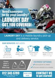 How To Do Flyers Create A Flyer For A Mobile Laundry Pick Up And Delivery Service