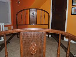 simmons metal furniture. 1930 u0027s simmons half moon rose cameo full size metal bedframe furniture