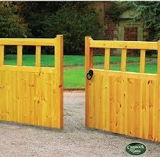 gloucester high wooden timber driveway gates at cannock gates