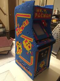 Ms Pacman Cabinet I Made A Mostly To Scale Ms Pacman Arcade Machine Out Of Perler