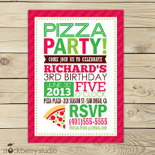 printable invitations for kids pizza party invitation printable pizza birthday party invitations