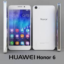 Huawei Honor 6 White 3D Model in Phone ...