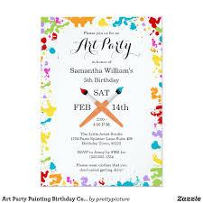 celebration invite art party painting birthday celebration invitation zazzle