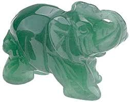 "QGEM 2"" <b>Natural Green Aventurine</b> Animal Elephant Gifts and Decor"
