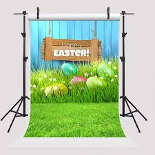 HelloDecor Polyester Fabric <b>7x5ft Happy Easter Backdrop</b> Colorful ...