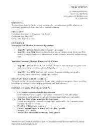 Objective For High School Resumes Objectives For Resumes For Students Skinalluremedspa Com