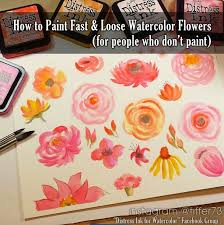 s garden paper crafts digital stamps hand made cards country living how to paint fast loose watercolor flowers with distress inks should you