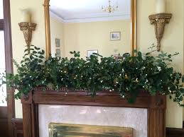Fairy Lights For Mantle I Created This Mantle Shelf Using Only Foliage And Fairy
